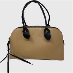 Innue two tone leather satchel